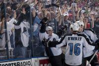 Hornqvist celebrates a goal