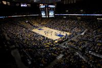 Overall view of the Bradley Center for a MU Basketball game