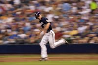 Craig Counsell runs the bases
