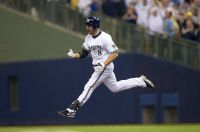 Ryan Braun celebrates a home run